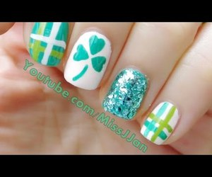 nail art, nails, and st. patrick's day image