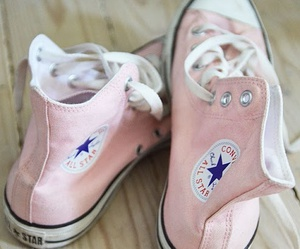 converse, pink, and all star image
