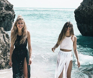 beach, black, and boho image
