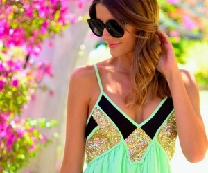 dress, summer, and green image