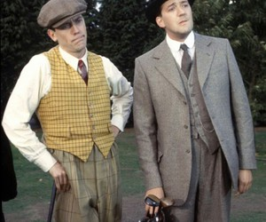 hugh laurie, steven fry, and jeeves and wooster image