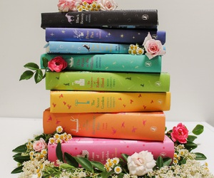 flowers, books, and color image