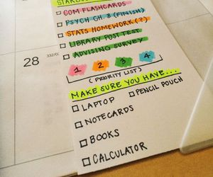 school, studyblr, and planner image
