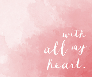 pink, heart, and white image