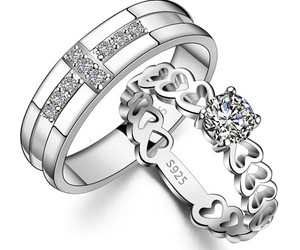 wedding bands, personalized rings, and bridal rings set image