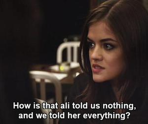 secrets, aria, and lucy hale image