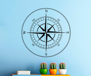 compass, murals, and decalsm walldecor image