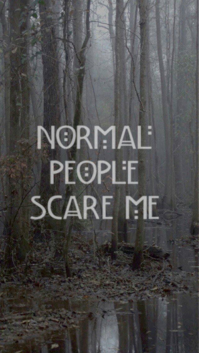 Normal People Scare Me Shared By Lockscreens
