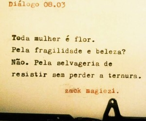 flor, mulheres, and frases image