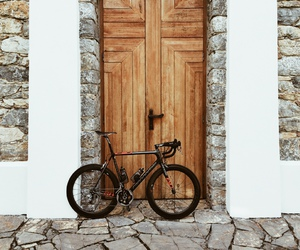 bicycle, bike, and house image