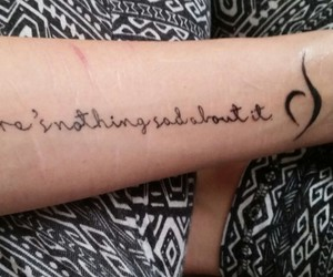 arm, quote, and scars image