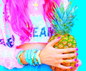bright, pineapple, and pastel image