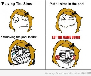 funny, sims, and saw image