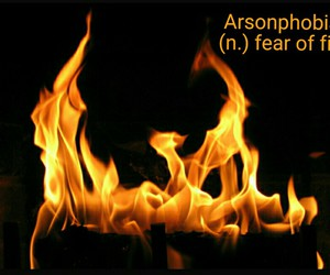 fear, fire, and phobia image