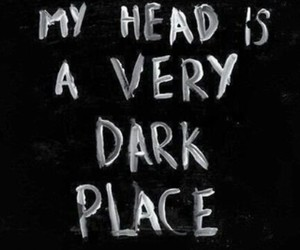 dark, quotes, and head image