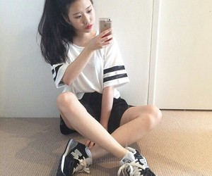asian, iphone, and black image