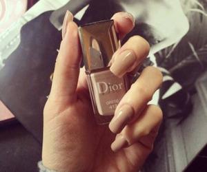 dior, nails, and girl image
