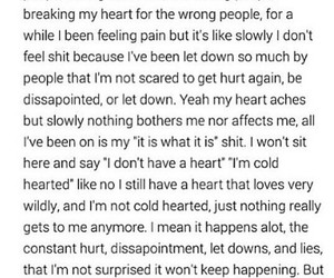 dissapointment, hurt, and quote image