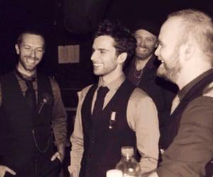 coldplay, Chris Martin, and guy berryman image