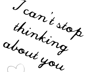 thinking, you, and love image