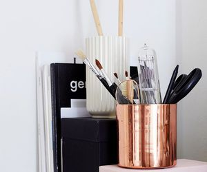 copper, desk, and stationery image