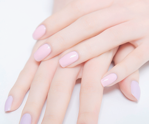 nails, pastel, and hands image