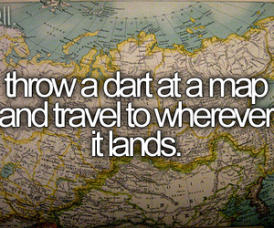 travel, map, and bucket list image