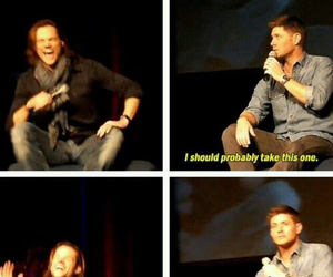 supernatural, jared padalecki, and Jensen Ackles image