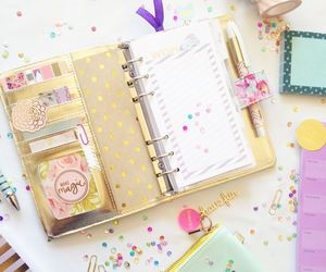 girly, cute, and planner image