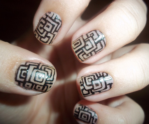 nails, beautiful, and colorful image