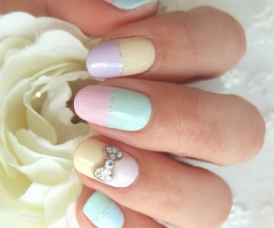 nails, pastel, and girly image