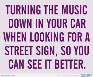 driving, music, and sign image