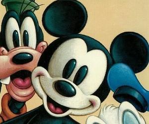 disney, mickey, and goofy image