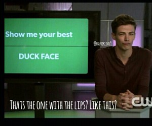 lol, the flash, and duck face image
