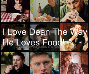 dean winchester, food, and supernatural image