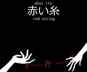red string, akai ito, and anime image