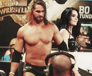 paige, wwe, and seth rollins image