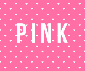 pink and hearts image