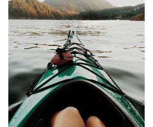 girl, lake, and river image