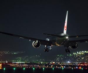 light, plane, and travel image