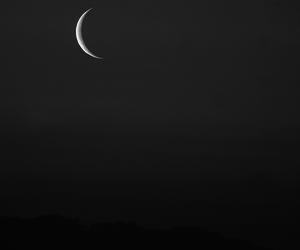 art, moon, and night image