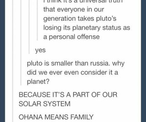 funny, pluto, and tumblr image