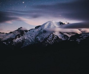 mountains, stars, and clouds image