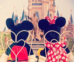disney, mickey mouse, and minnie mouse image