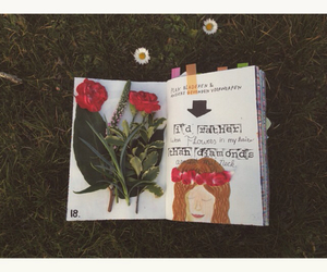 diamonds, flowers, and journal image
