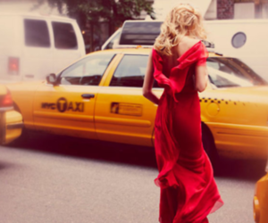 girl, taxi, and dress image