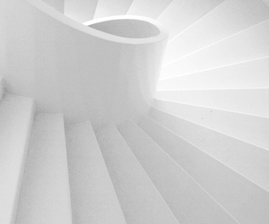 white, photography, and stairs image