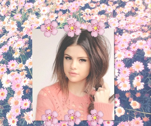 background, flowers, and selena image