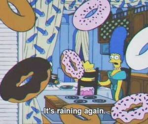 donuts, simpsons, and rain image