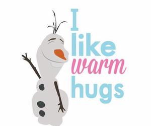 frozen, olaf, and hug image